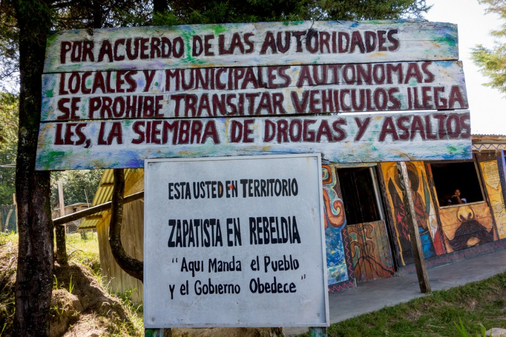 """You Are in Zapatista Rebel Territory,"" Oventic, August 2013. Photograph by Lorie Novak"